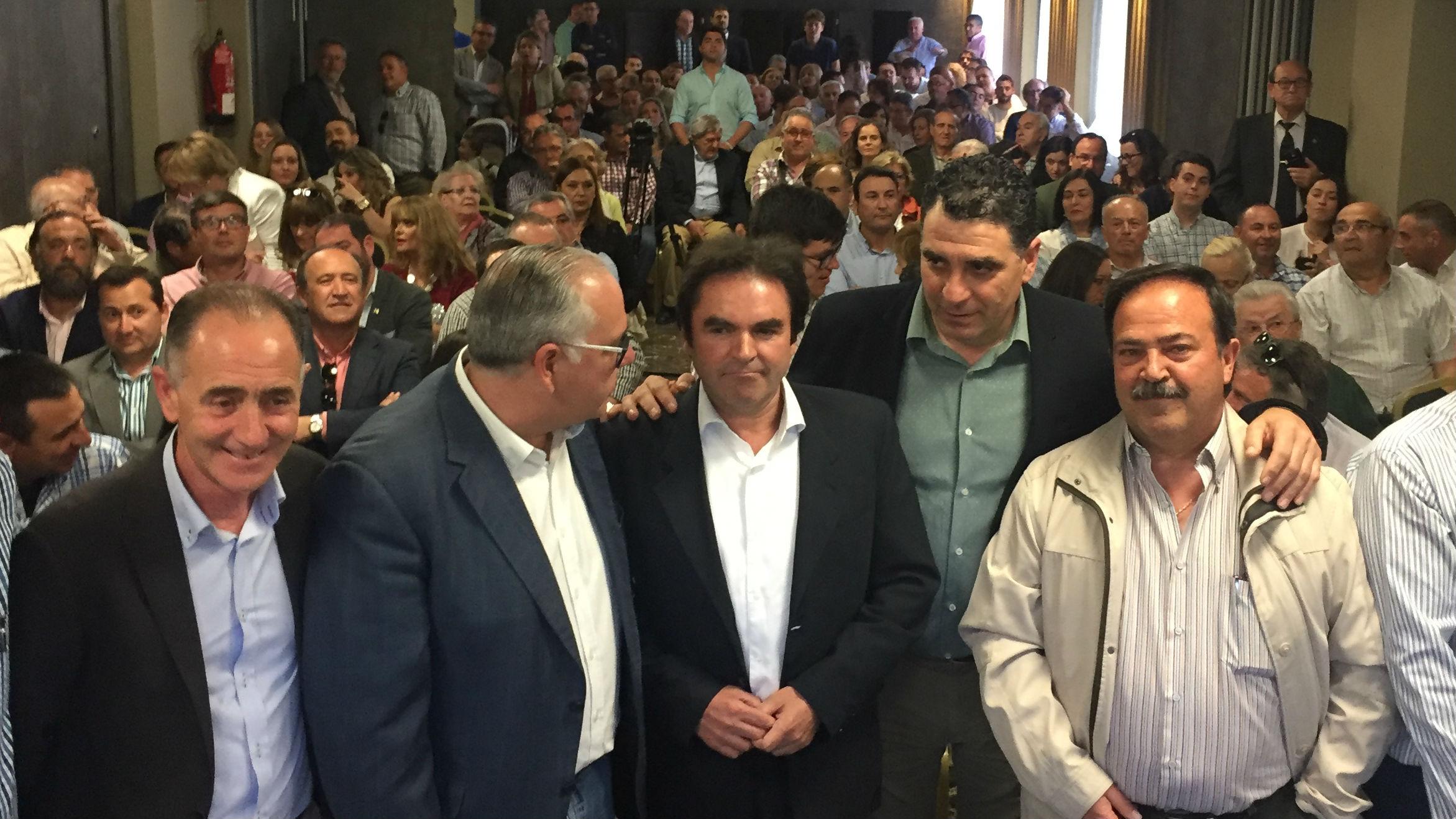 Dirigentes del PP, durante la presentación de la candidatura de Miguel Moreno en Jaén