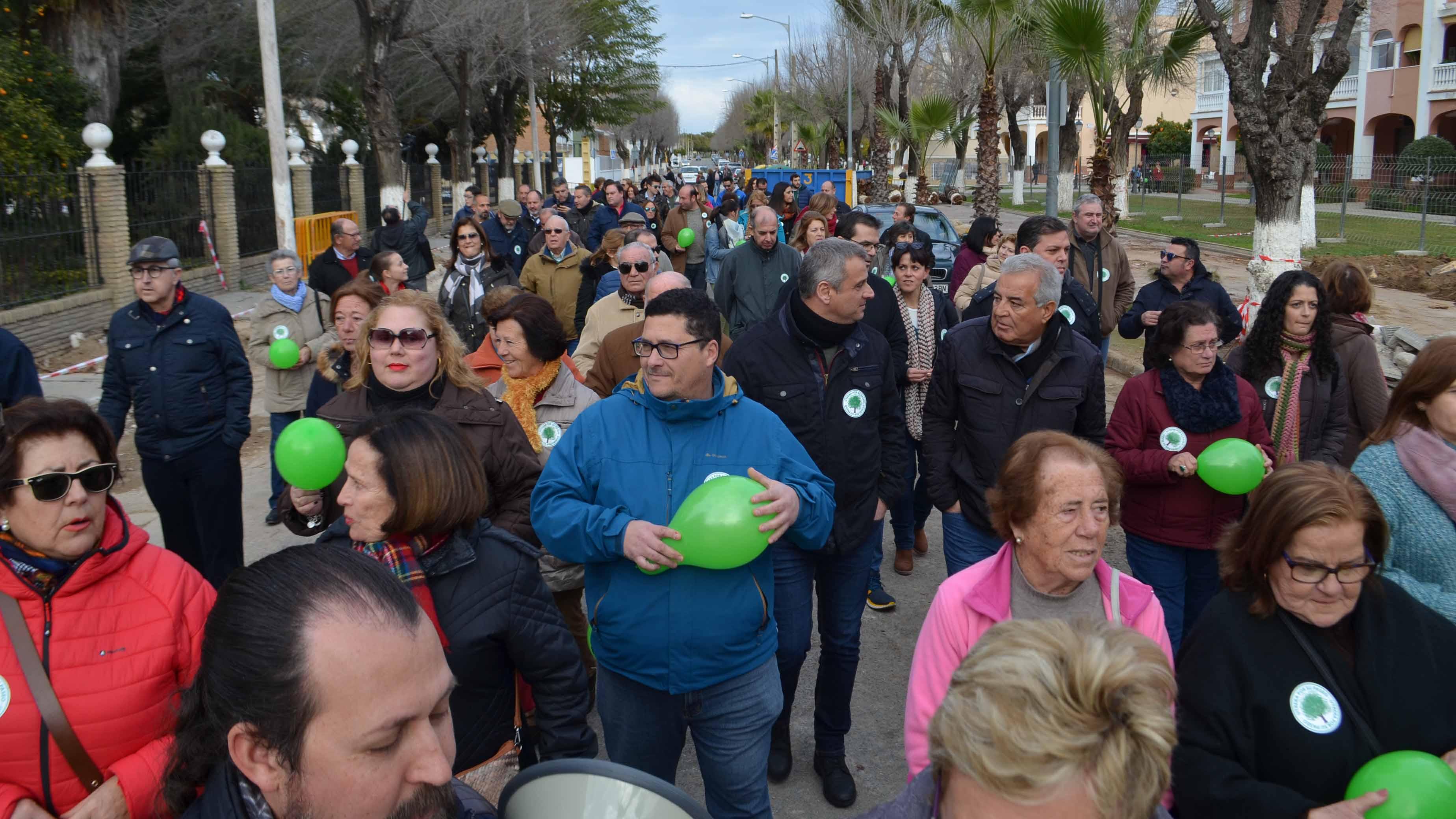 Los manifestantes recorrieron el paseo de Consolación