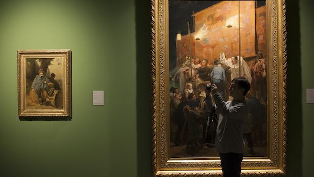 Visitante de las exposiciones