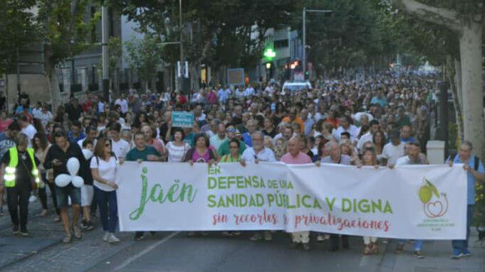 Manifestación de la plataforma para exigir mejoras en la sanidad pública