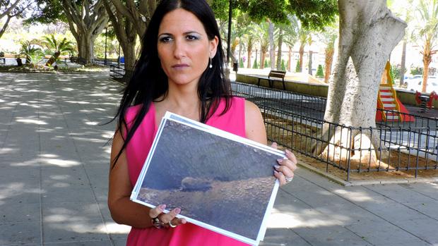 Inés Plaza, en el parque Nicolás Salmerón