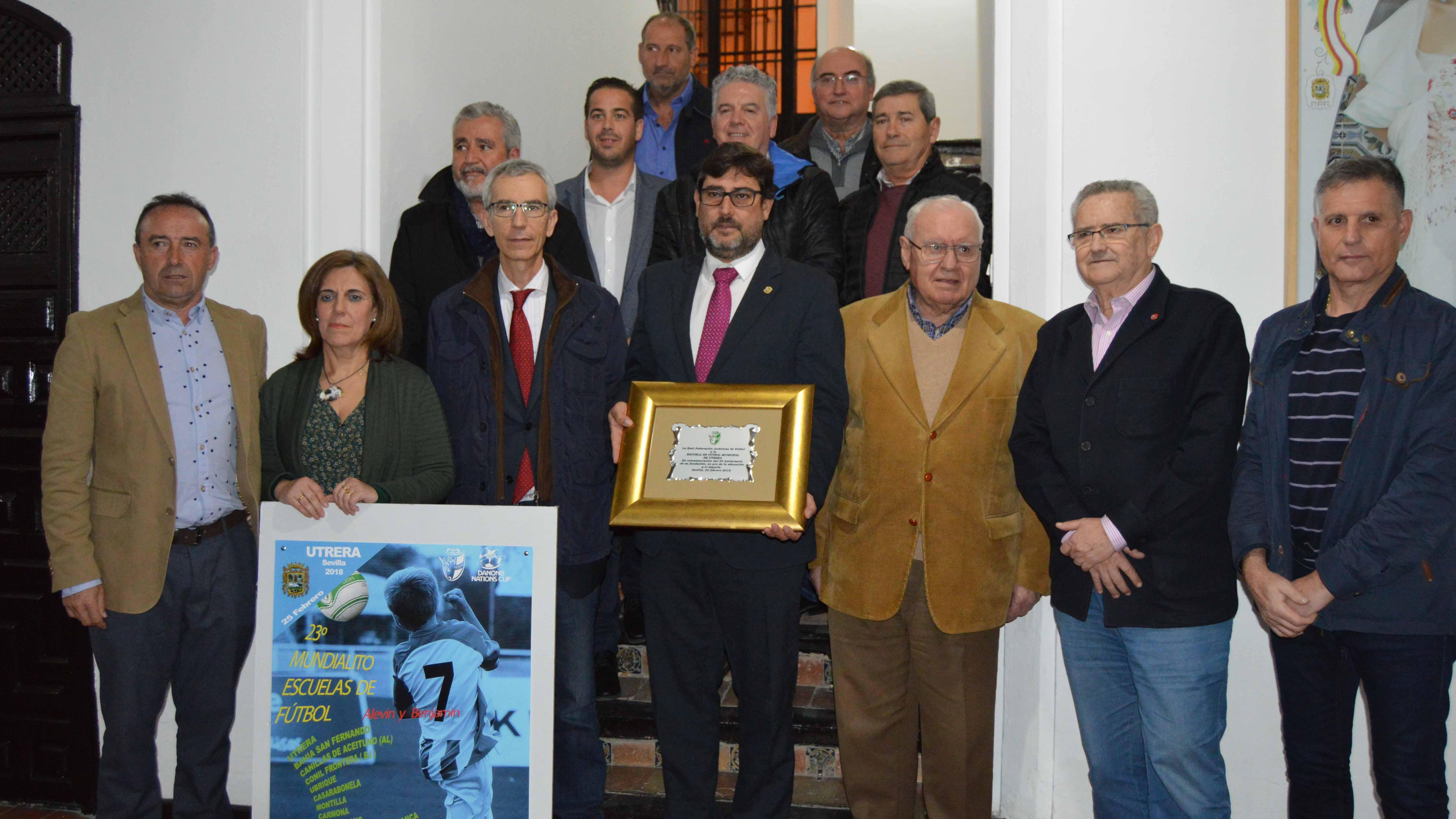 En el acto estuvieron los tres alcaldes que Utrera ha tenido en los últimos 30 años