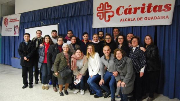 Voluntarios que dan forma al Proyecto Samuel de Caritas en La Inmaculada de Alcalá