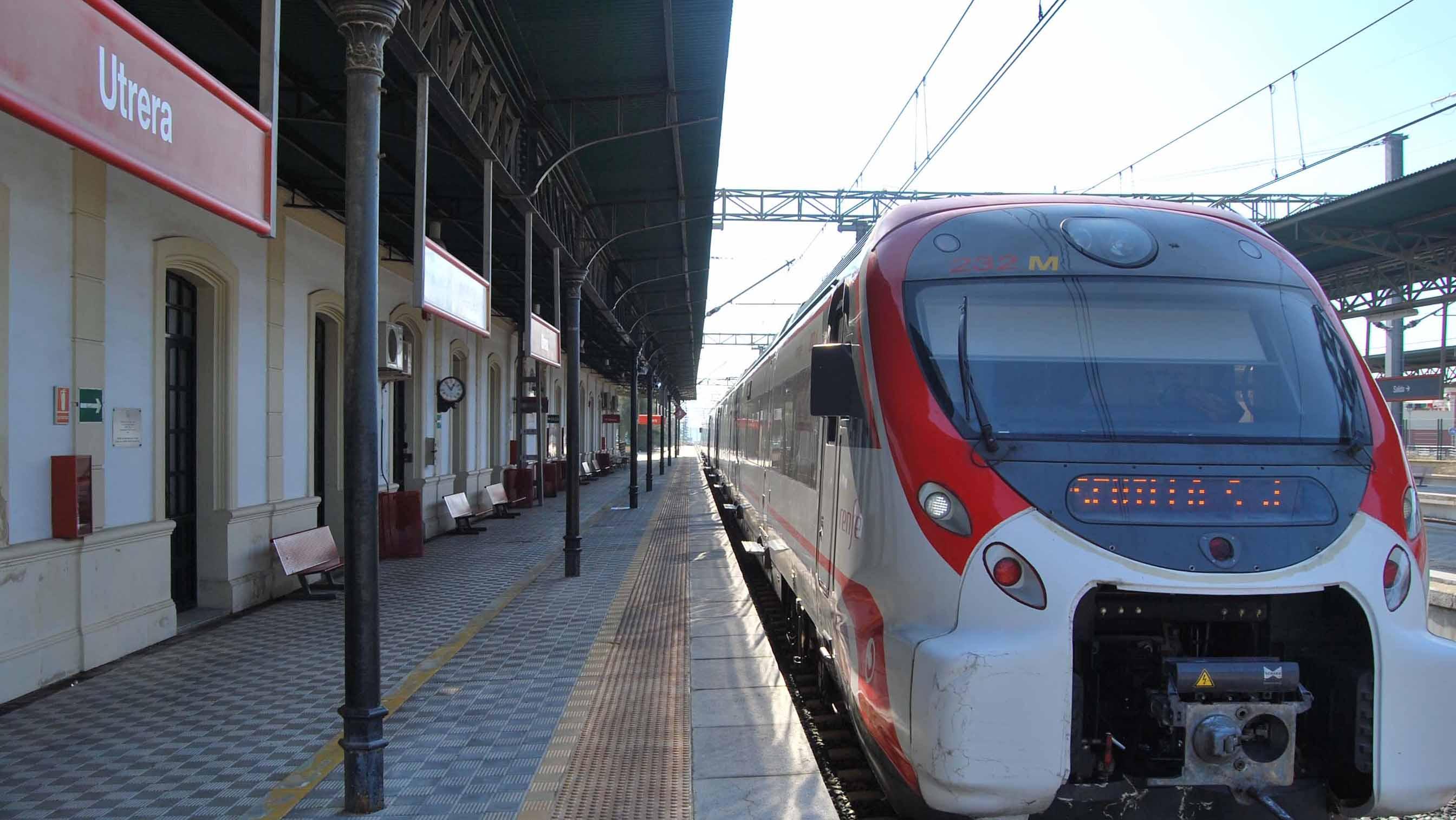 La estación de tren de Utrera es usada diariamente por miles de utreranoS