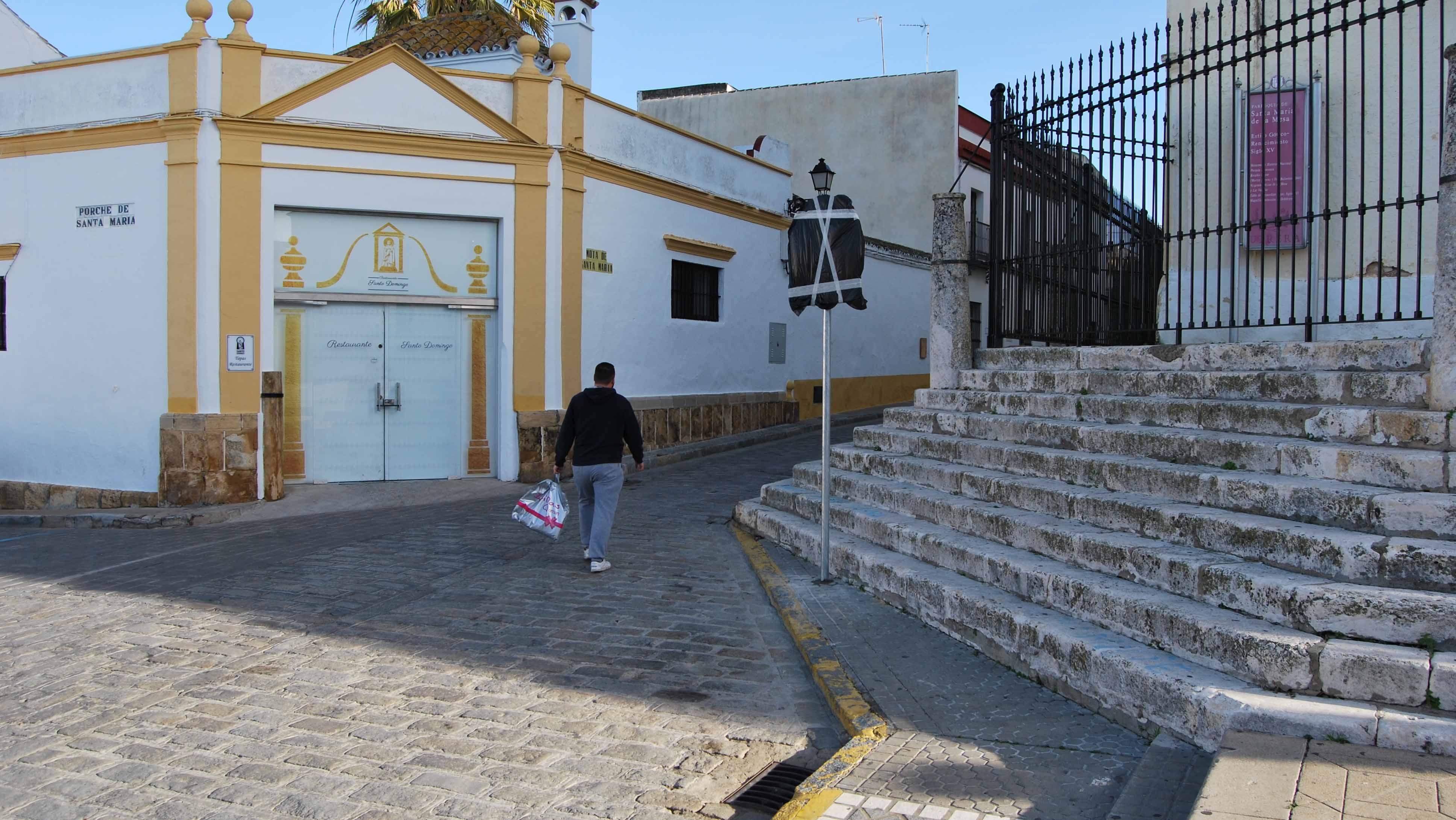 La calle donde según el historiado Julio Mayo nació el Abate Marchena