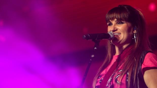 La cantante Rozalén en uno de sus conciertos