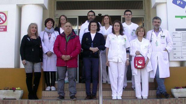 Equipo del Hospital El Tomillar que ha puesto en marcha el nuevo protocolo