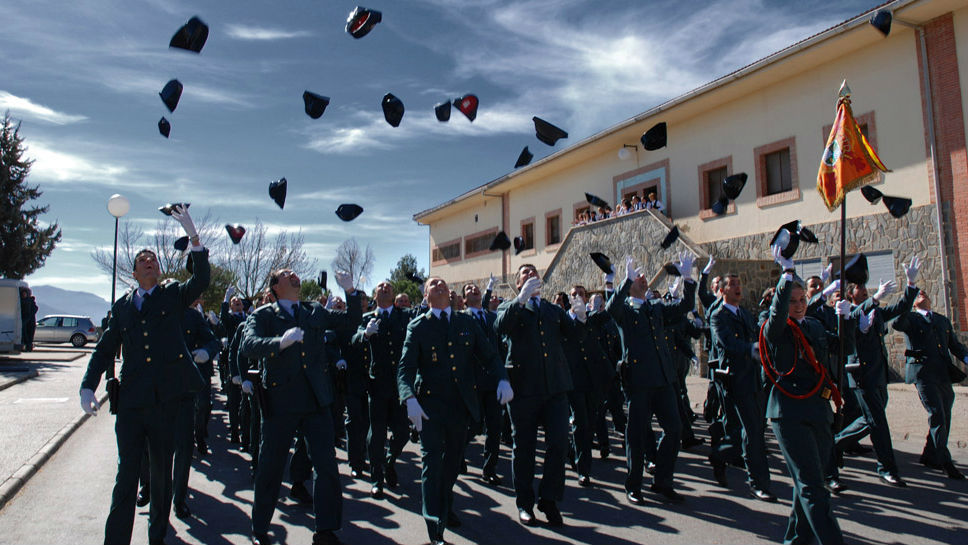 Graduación de alumnos de la Academia de la Guardia Civil de Baeza.
