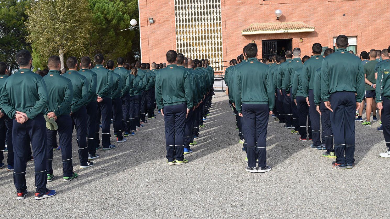 Alumnos de la Academia de la Guardia Civil de Baeza