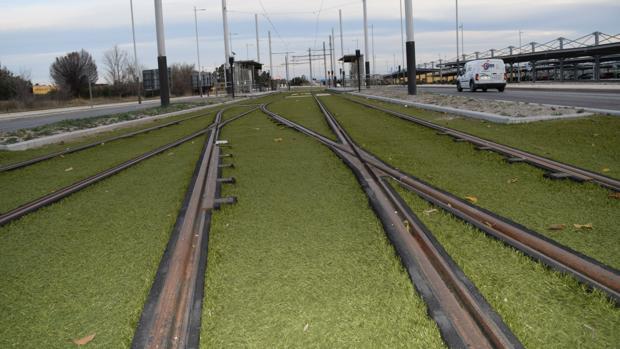 Tramo del tranvía de Jaén