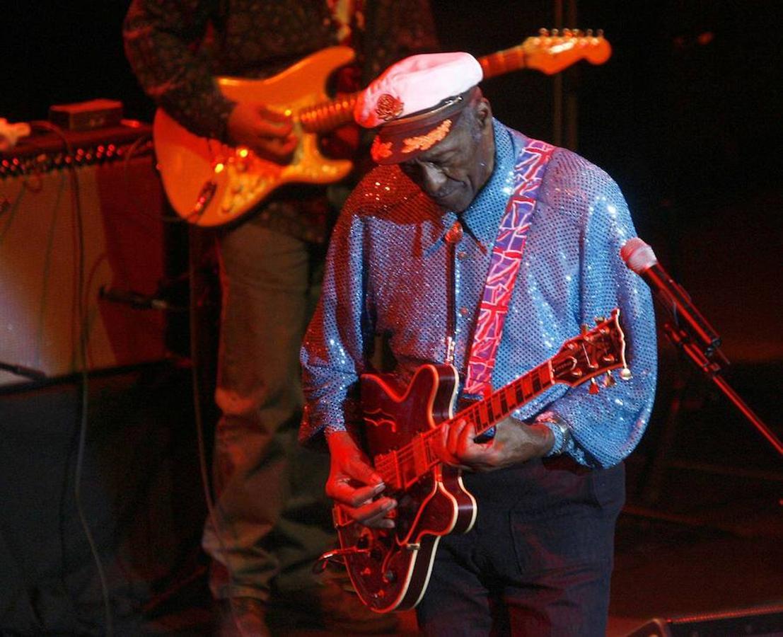 Chuck Berry, en un concierto en Castellón