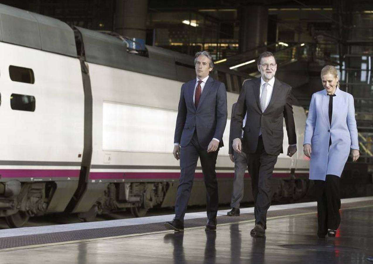 De la Serna, Rajoy y Cifuentes
