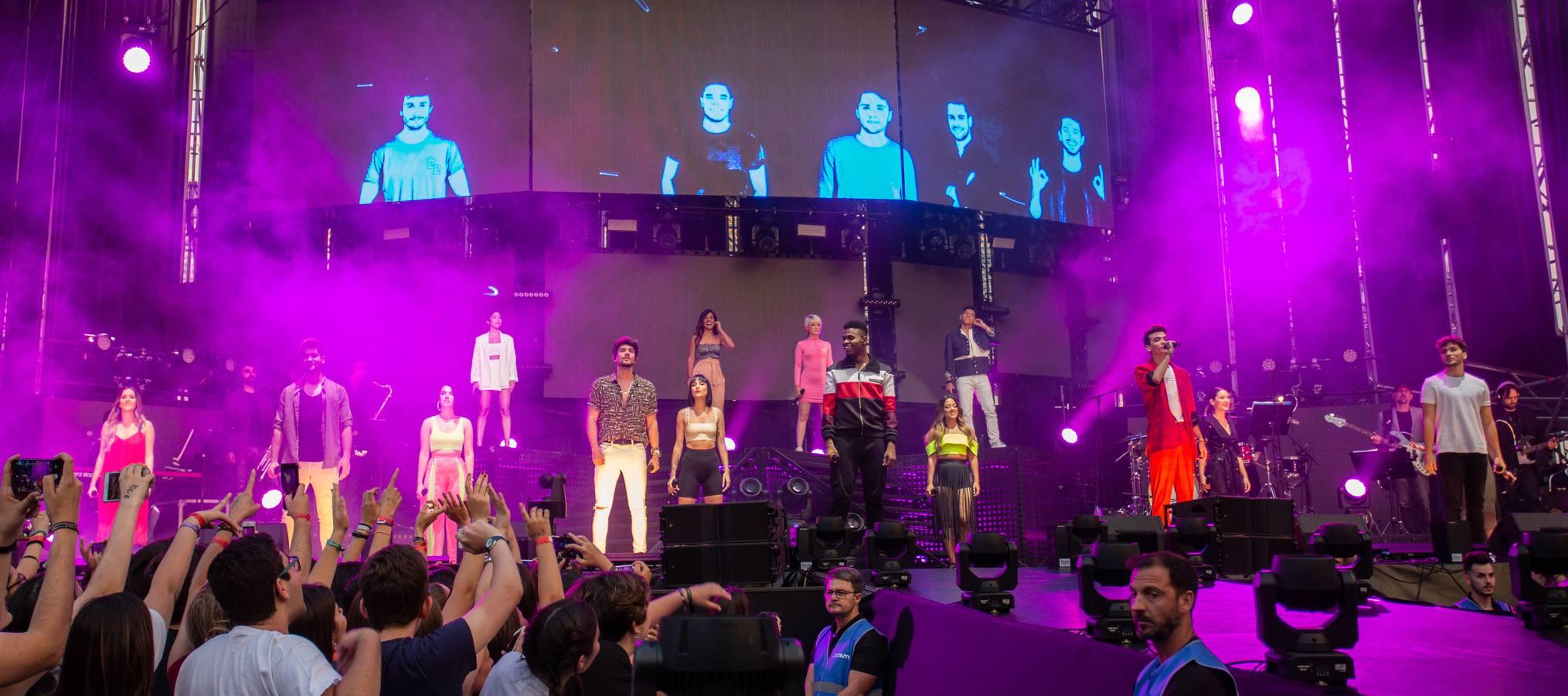 cronica ot 2018 sevilla concierto famous time alba reche natalia lacunza miki julia dave