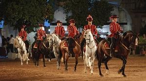 Espectáculo ecuestre celebrado en Caballerizas Reales