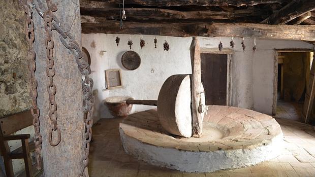 La piedra circular del molino