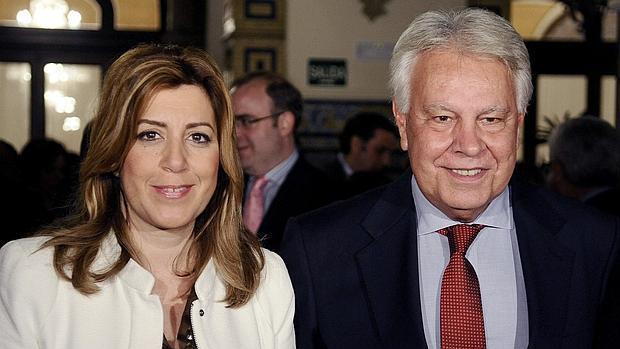 Resultado de imagen de Susana Díaz con Felipe González