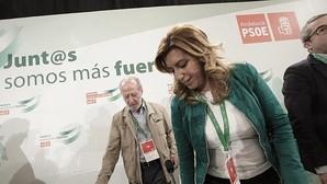 Susana Díaz y Rodríguez Villalobos, presidente Diputación de Sevilla, en un acto del PSOE