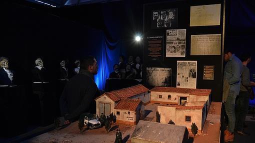 Maqueta del cortijo de los Galindos, donde se cometió un quíntuple asesinato