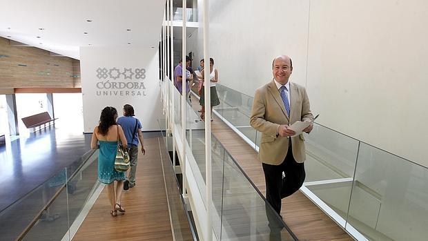 Rafael Navas, en el Centro de Visitantes