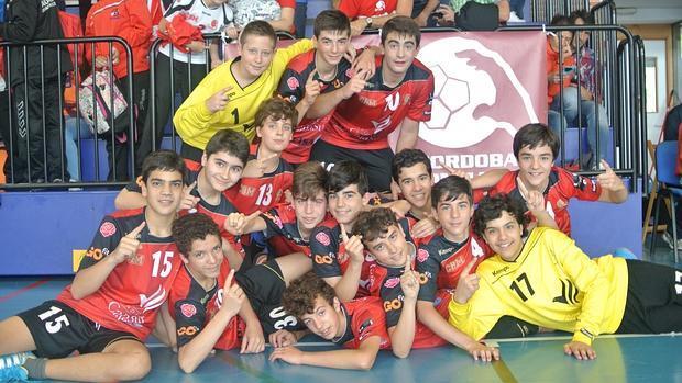 La plantilla del Cajasur Córdoba Bm infantil, campeón de Andalucía