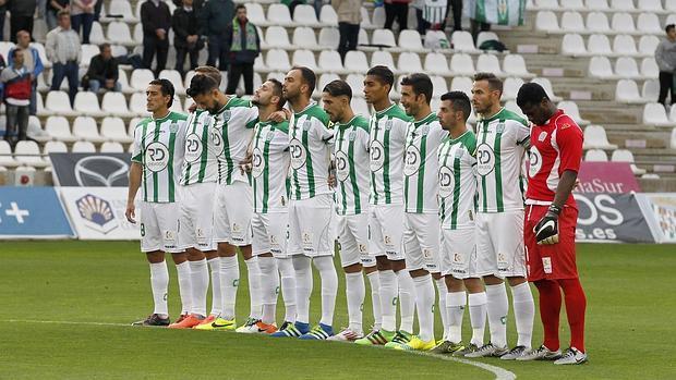 Los jugadores del Córdoba, en el último partido ante el Girona