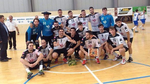 La plantilla del Cajasur Córdoba balonmano, en la fase de ascenso