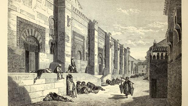 Muro orienta de la Mezquita-Catedral en un grabado de Doré