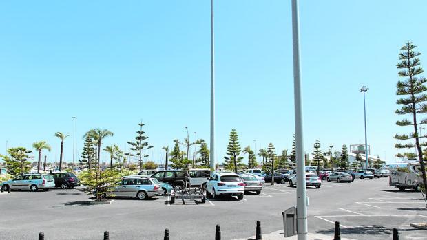 Imagen del aparcamiento de Mazagón