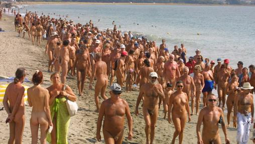 Playa nudista imagen vacaciones