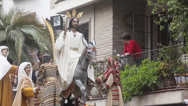 La Entrada Triundal durante su procesión el pasado Domingo de Ramos