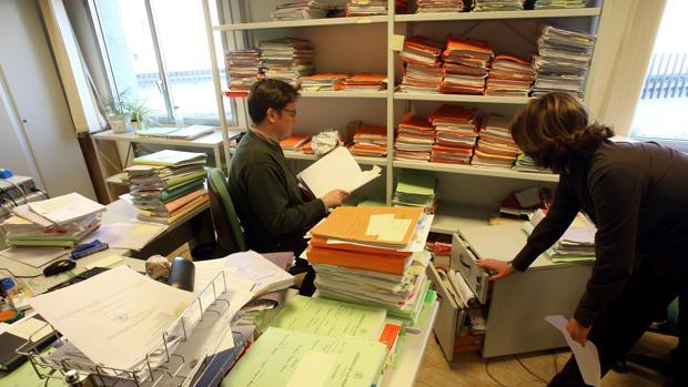Trabajo en el interior de un juzgado de Córdoba