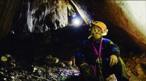 Interior de la Cueva del Ángel, en Lucena