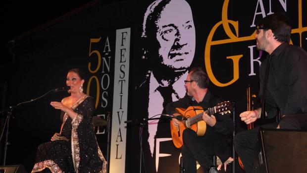 Marina Heredia, ayer, en el Festival del Cante Grande