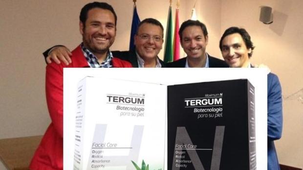 El equipo de Tergum con su producto estrella