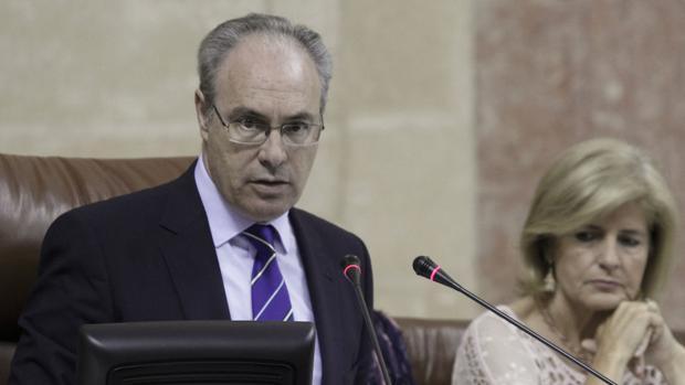 El presidente del Parlamento de Andalucía, Juan Pablo Durán