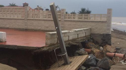 Los efectos del temporal en Málaga