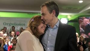 Susana Díaz se apoya en Zapatero para marcar un rumbo que sea «autónomo» del PP y Podemos