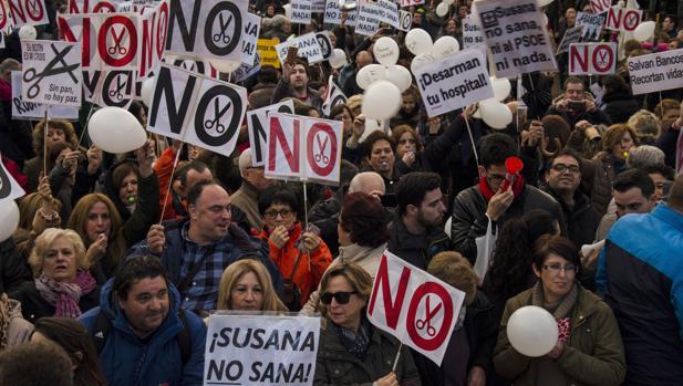 Imagen de la marcha que tuvo lugar en Jaén el pasado 16 de diciembre