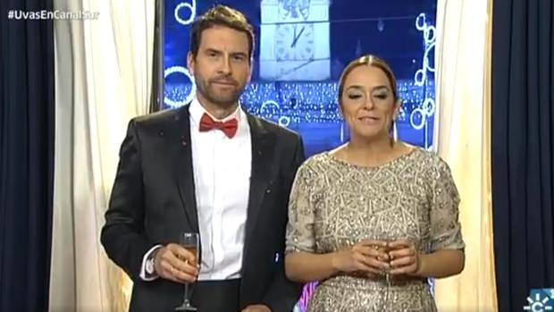 Toñi Moreno y Miguel de Miguel durante la gala de Fin de Año