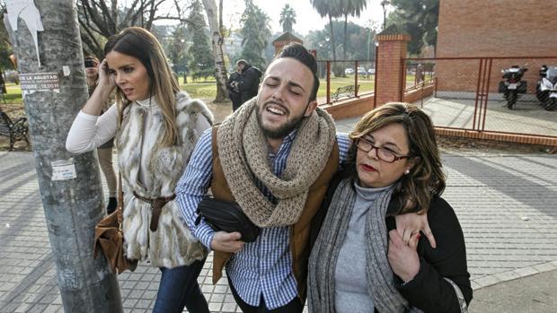 Cristian Menacho, a su salida de los juzgados este martes