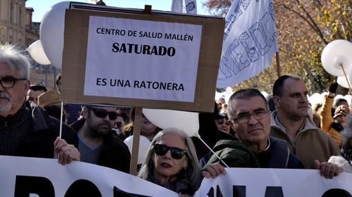 Manifestación por las calles de Sevilla