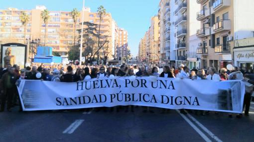 Manifestación por las calles de Huelva