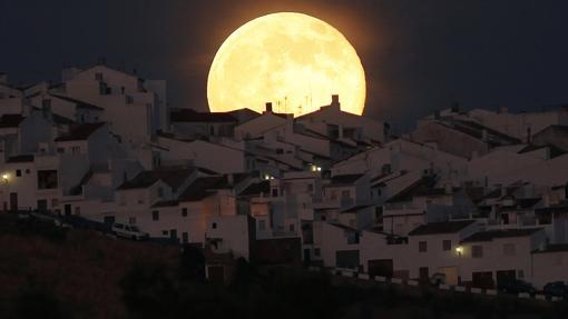 El municipio visto de noche