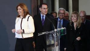 Susana Díaz, ayer en el Palacio de San Telmo en la presentación del pacto