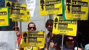 Una imagen de archivo de las protestas contra las cláusulas suelo