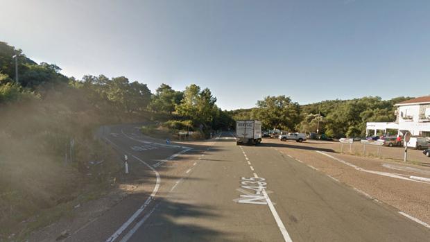 La carretera donde se ha producido el accidente