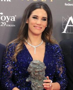 India Martínez, con su Goya