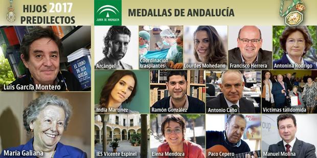 Vida y obra de los galardonados del Día de Andalucía