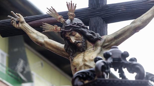 El Santísimo Cristo de la Piedad, durante su procesión