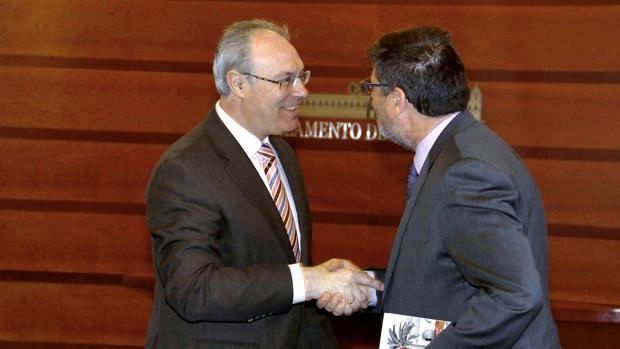 Los presidentes del Parlamento y de la Cámara de Cuentas de Andalucía